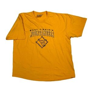 Vintage West Virginia Mountaineers Yellow T Shirt
